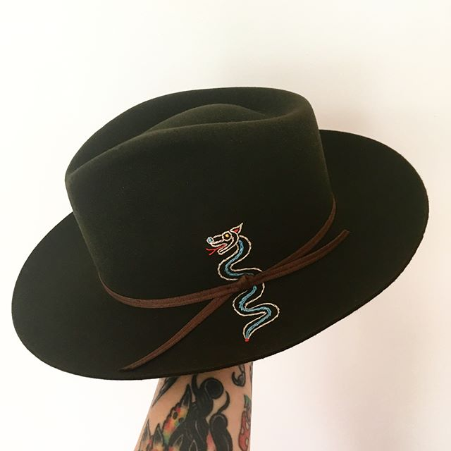 Ancien Snake from the Americas @hoppergoods X @stetsonusa