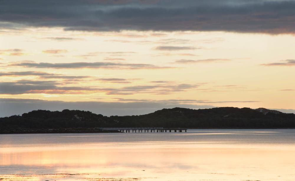 Sunset across Leschenault Estuary, Western Australia