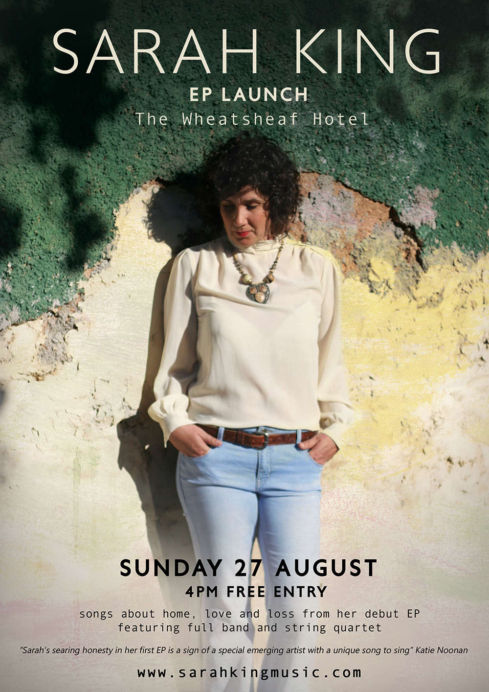 Sarah King EP Launch Poster