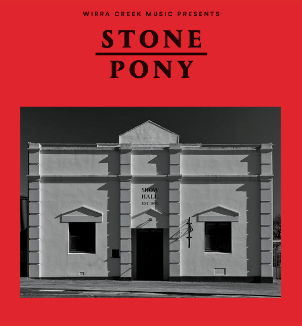 Stone Pony is a not-for-profit music venue presented by Wirra Creek Music that promotes original artists (instrumental and songwriters).  Sarah King is an English born, Australian made musician delivering an intimate collection of genre-blurring tunes on her debut EP.  Taking hints of jazz, folk and pop to create a warm vintage sound clearly rooted in her classical style featuring lush arrangements and swooping melodies tugging heartstrings and captivating listeners with her serene vocals.  A Saoirse performance will delight the audience with a little bit of everything Celtic; heartfelt ballads, lively jigs, reels and polkas, original songs and even a traditional step dance or two!  Nigel Wearne is an Australian folk/country singer-songwriter whose music has an intimate and poignant narrative. Equipped with personally handcrafted guitars, his music melds finger-style guitar, clawhammer banjo, folk and honest storytelling.