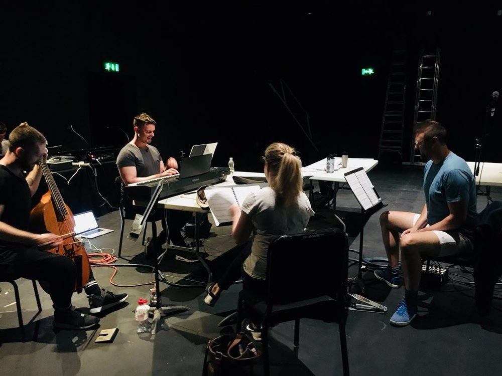 """Workshopping """"Dear Marie Stopes"""" at The Barbican, June 2018."""