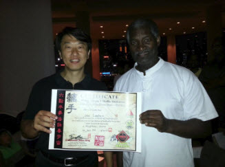 Receiving the Shaolin Wing Chun 7 Skills Universe Certification