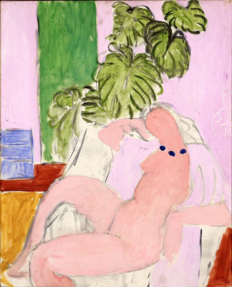 Nude in an Armchair with a Green Plant, 1937