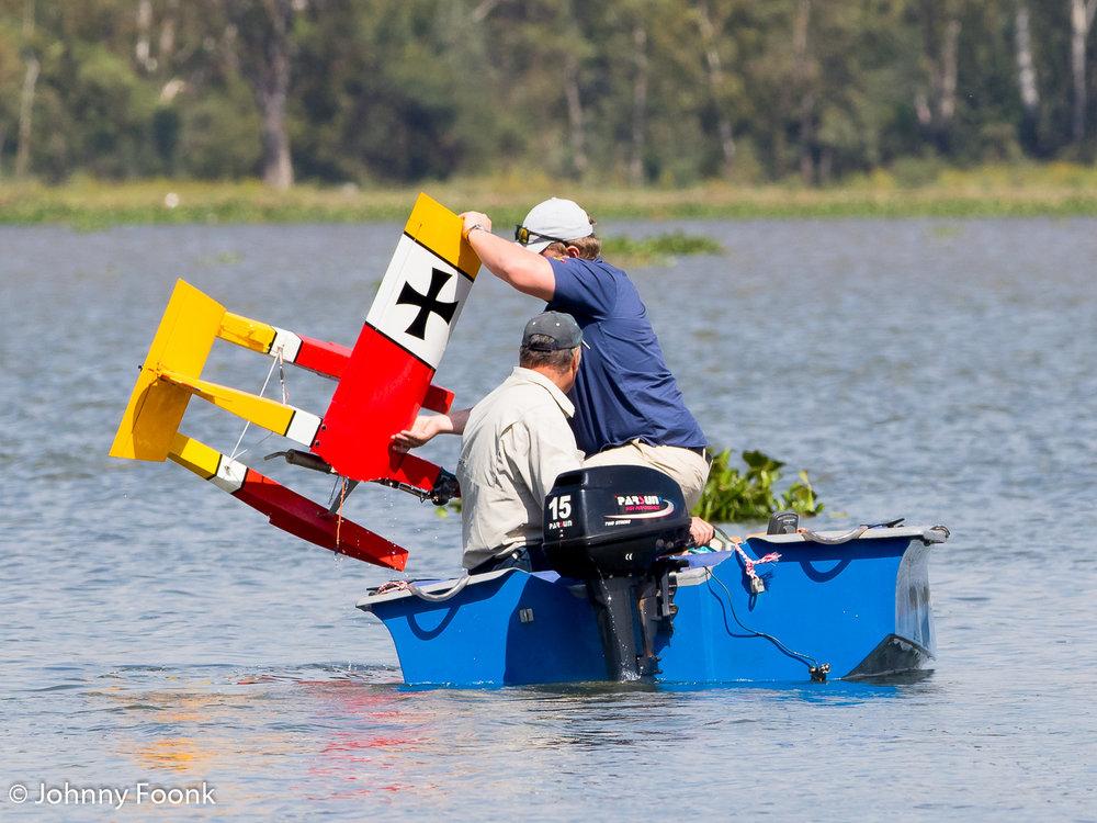 Dirk van der Bank rescuing