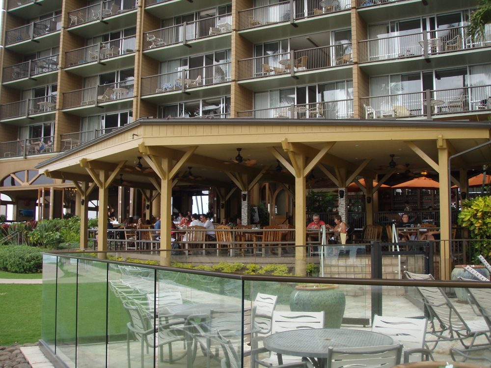 Ocean front restaurant lounge renovation. We used standing seam metal roofing for this project.