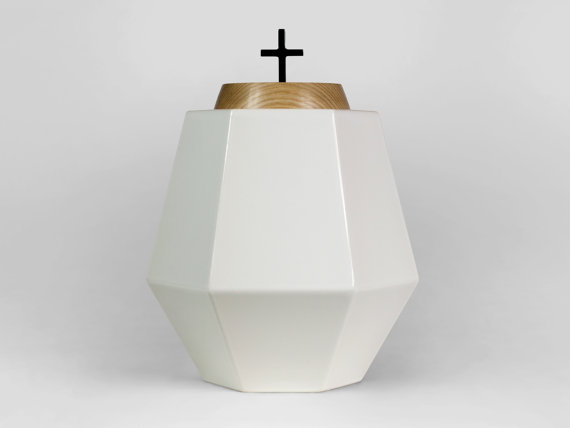 Nawia Aspre - white urn for ashes