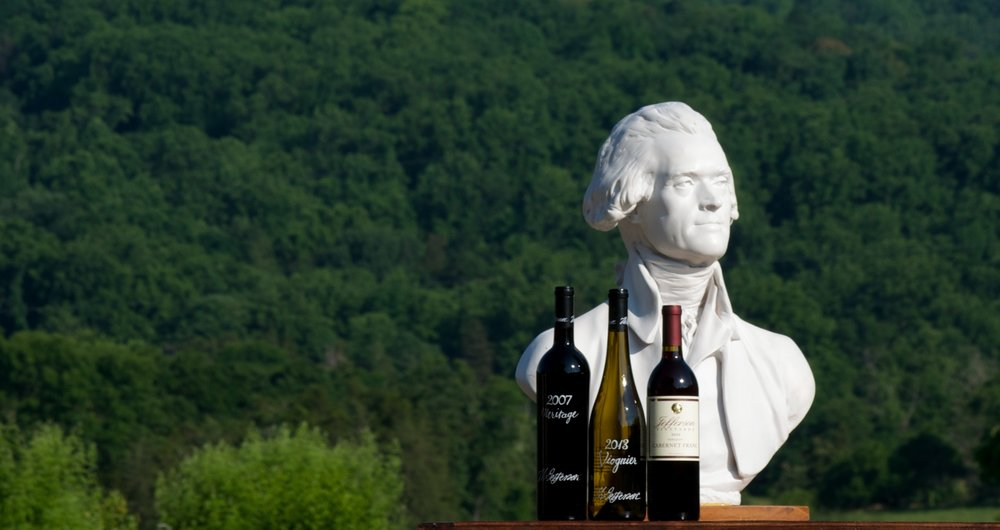 Sample our selection of Jefferson wines featured this November as part of our Virginia, Wine-of-the-Month program.