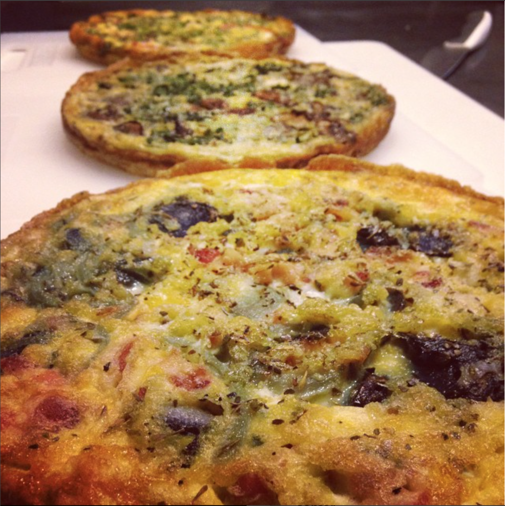 Frittatas  - Take home one of our famous frittatas! Each serves about 10-12 people with 2-3 inch slices. All frittatas are gluten free, and dairy free options are available.