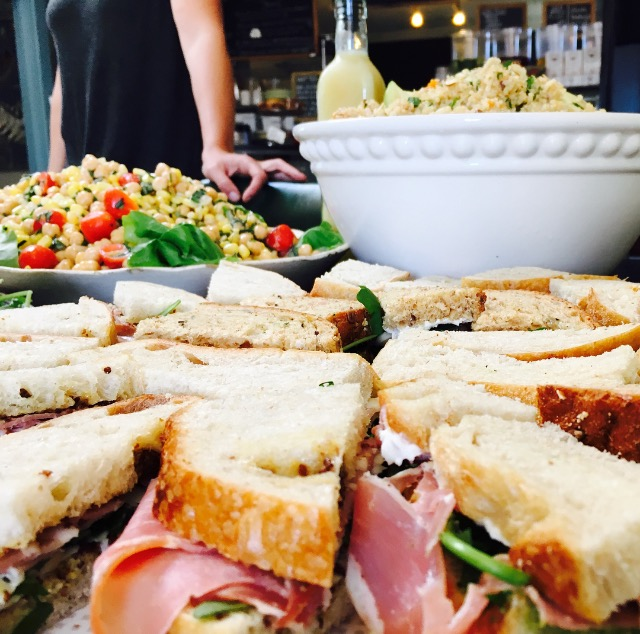 The Picnic - The Picnic serves 6-8 people, and is perfect for sunny seaside snacking! This spread includes two salads, assorted finger sandwiches, and choice desserts.