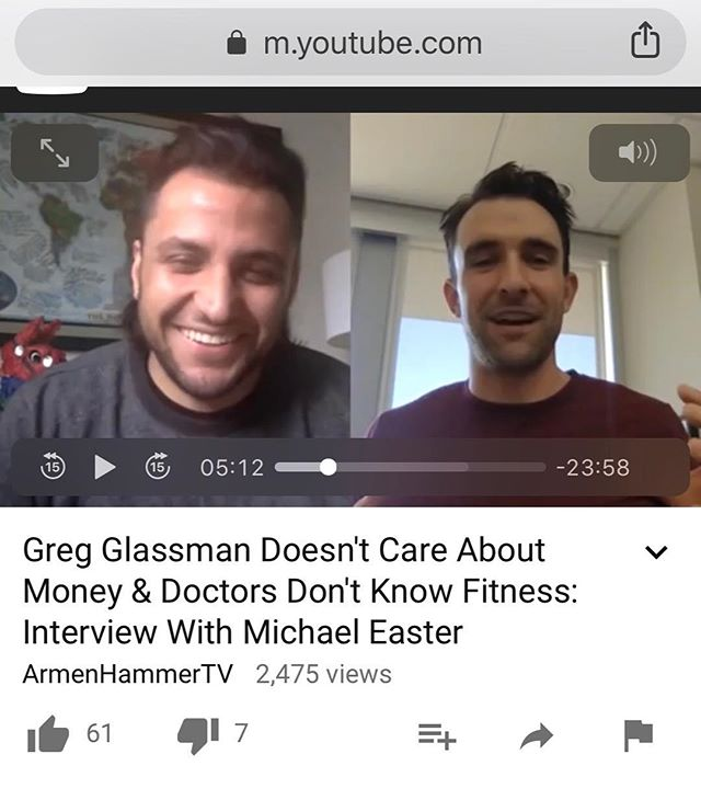 Had fun talking with the smart, funny @armenhammertv about my recent Greg Glassman profile, how journalists cover CrossFit, and what doctors aren't taught about lifestyle health interventions.
