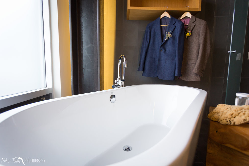 Our penthouse above the venue featured this amazing tub, which was used pre and post wedding.