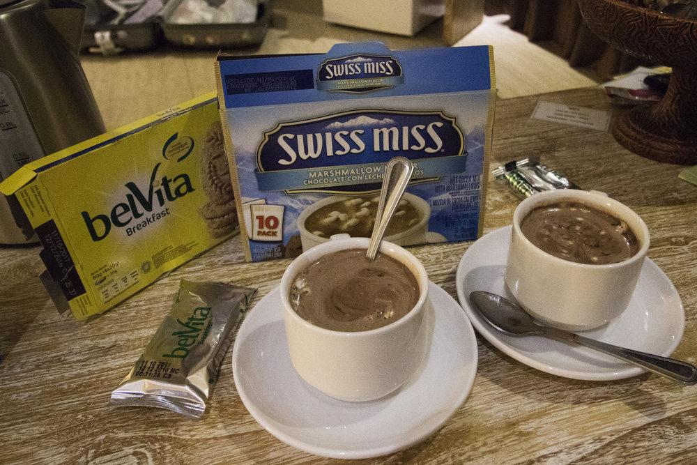 Breakfast - } Swissmiss Cocoa Drink} Belvita Cereal Crackers