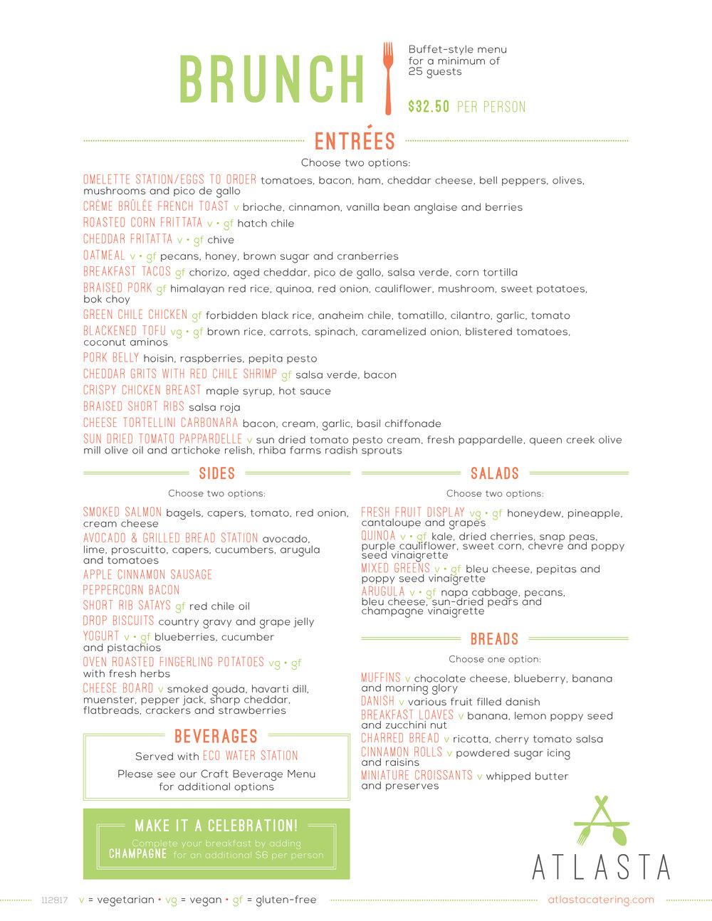 Atlasta Catering - Wedding Brunch