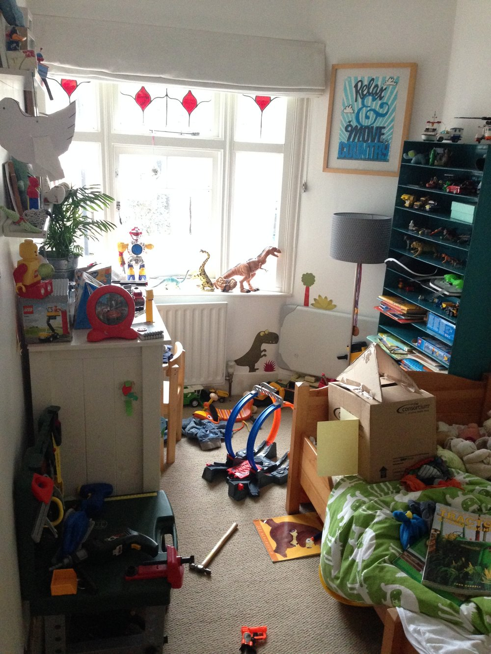 Chaotic children's bedroom