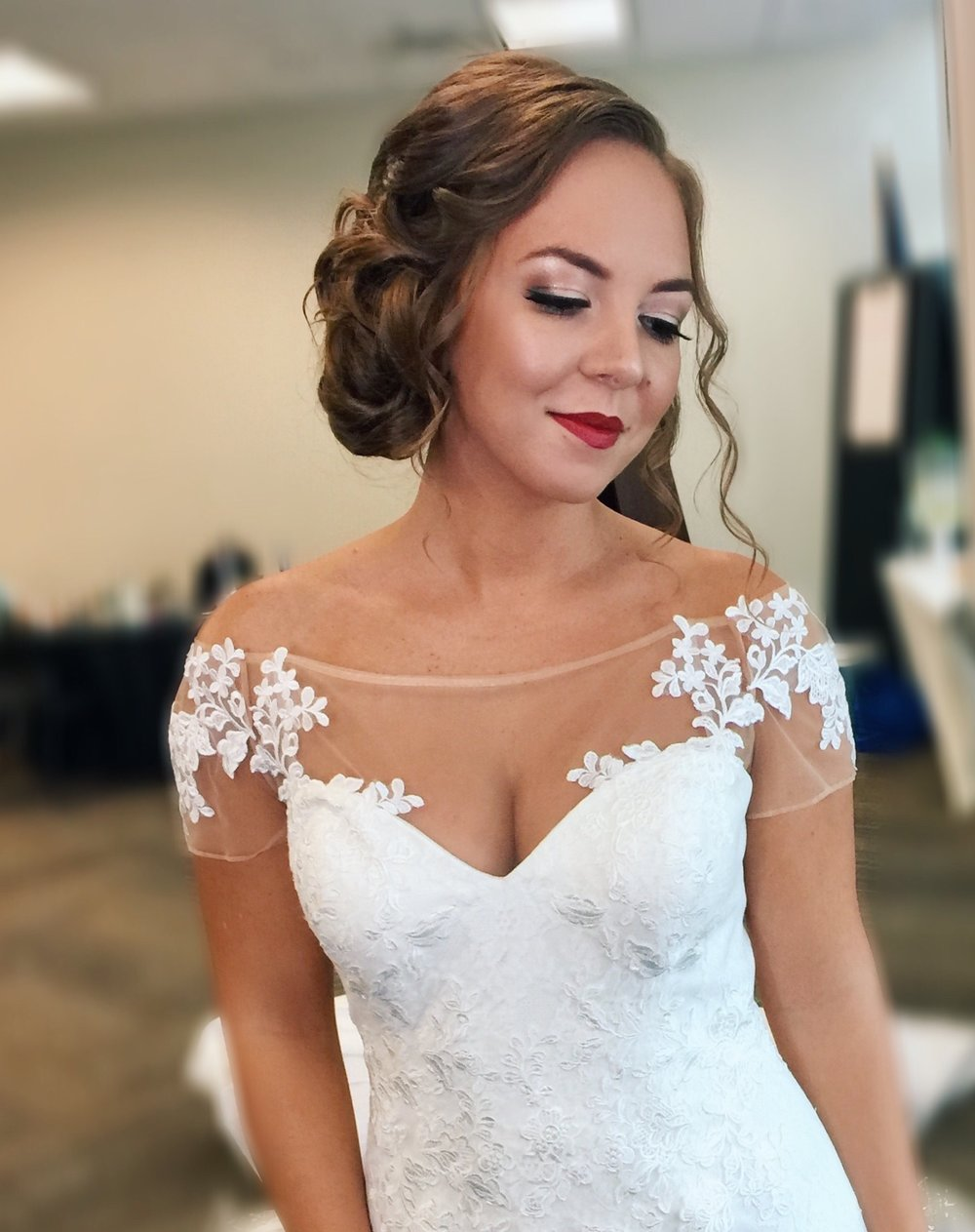 Hannah was our boho bride, but we couldn't resist adding a little Hollywood Glam when we saw this dress!