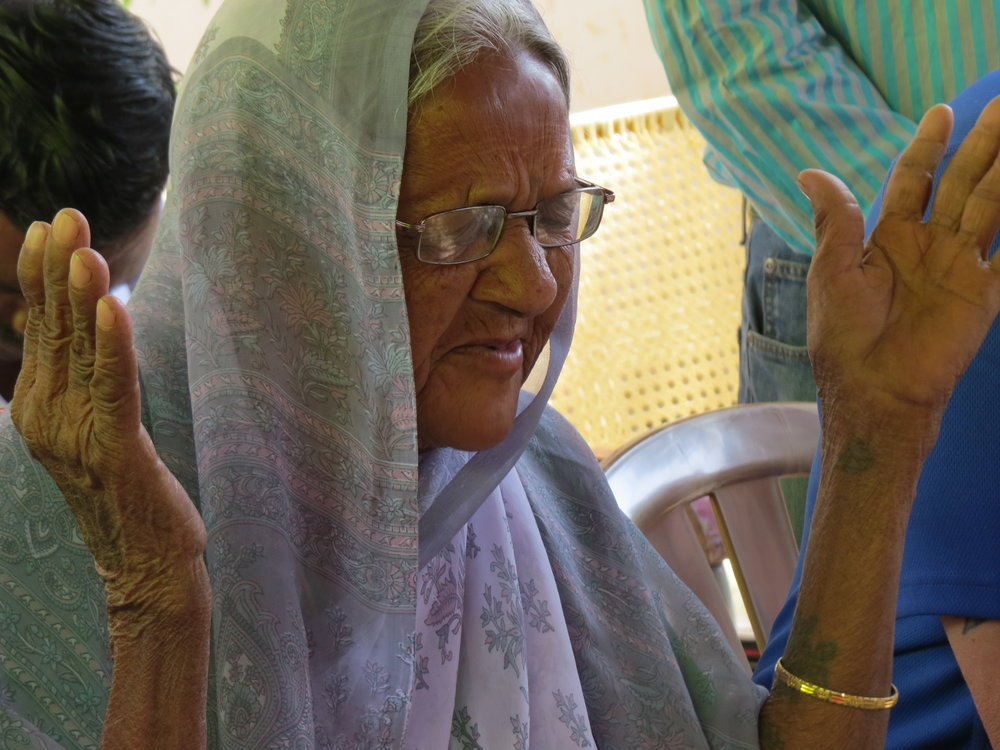 First widow to come to this widow home.  This is a picture of her worshipping the Lord.