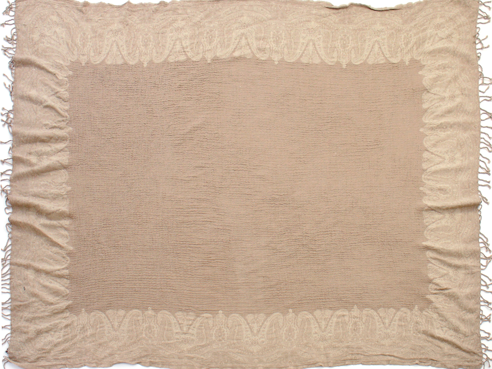 "Taupe/Ivory 60"" x 80"""