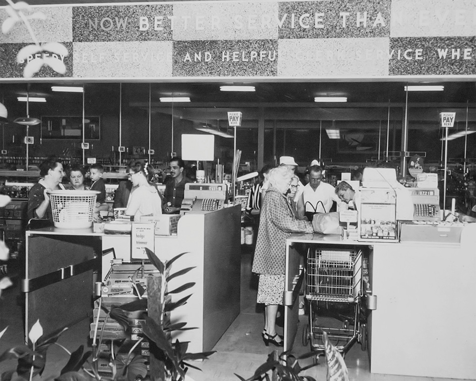 Orchard Supply Hardware Interior 1950s