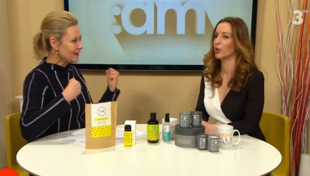 TV3 Ireland AM Laura Bermingham reviews Modern Botany OIl as 'Best of Irish' Feb 2017