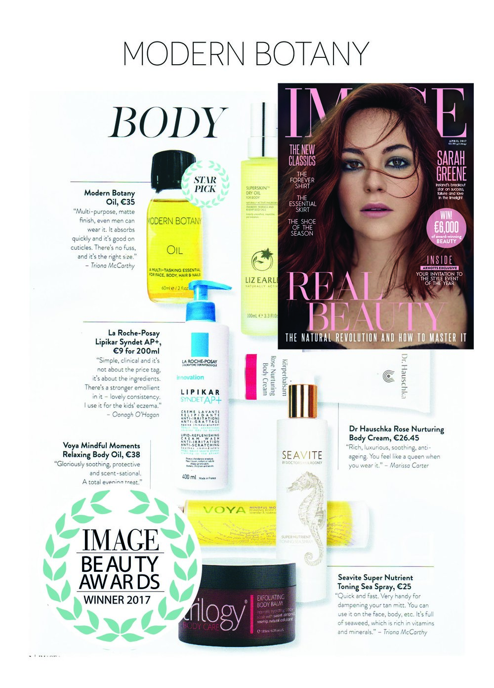Image Beauty Award April 2017