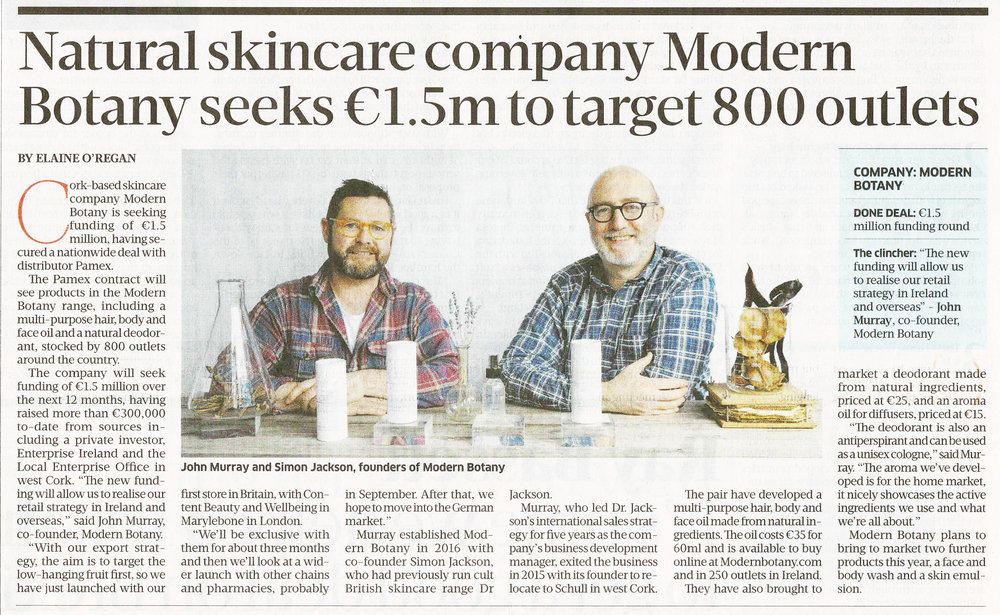 Sunday Business Post Scan July 2018 Article Crowdfunding
