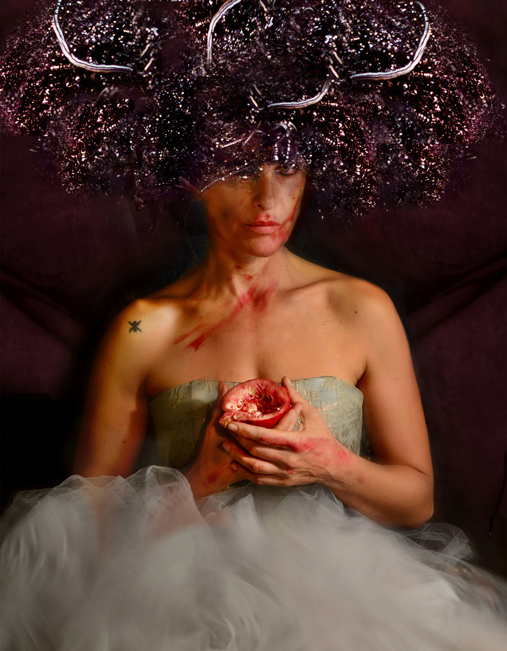 Self Portrait as Persephone in the underworld