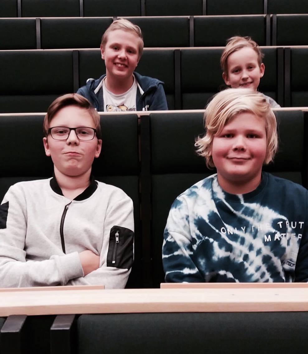 Jouka, Totte, Pessi ja Lauri harjoituksissa 3.11.2016