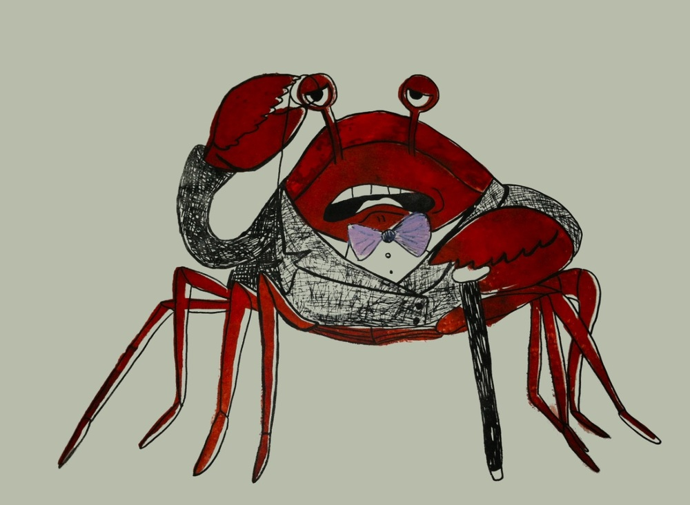 Dapper Crab, Lithograph