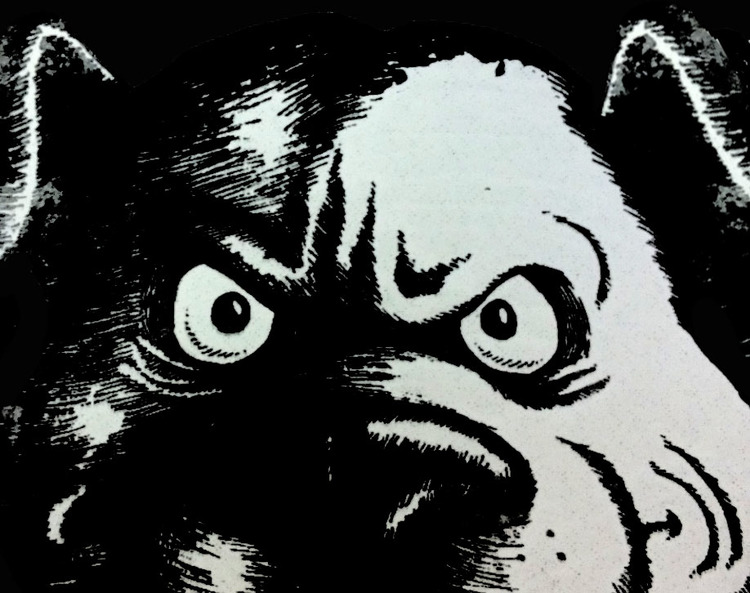Pugs are Thugs, Woodcut