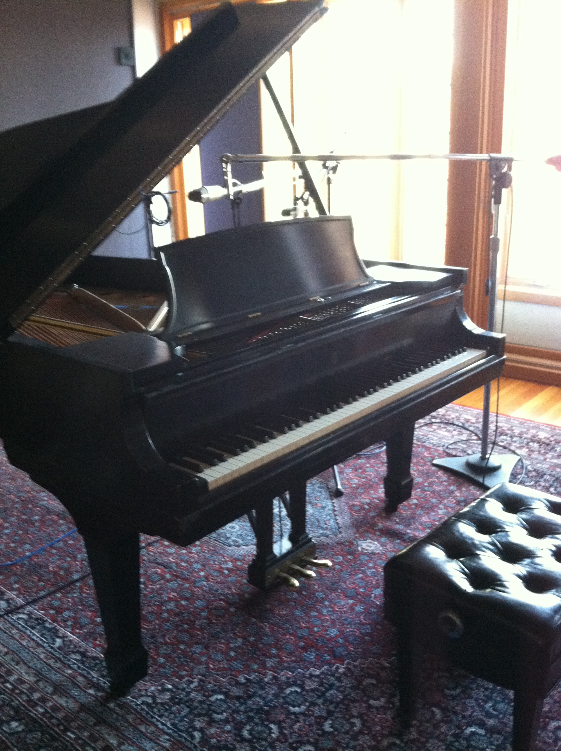 The Steinway B at Imaginary Road Studios.