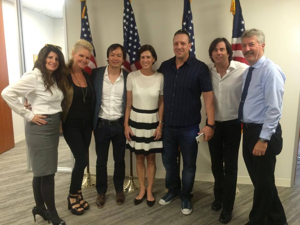 L - R - Kori Carothers, Mindi Abair, Christopher Tin, Rep. Mimi Walters, Nathan Wright, Tommy Morrison and Keith Wolzinger.