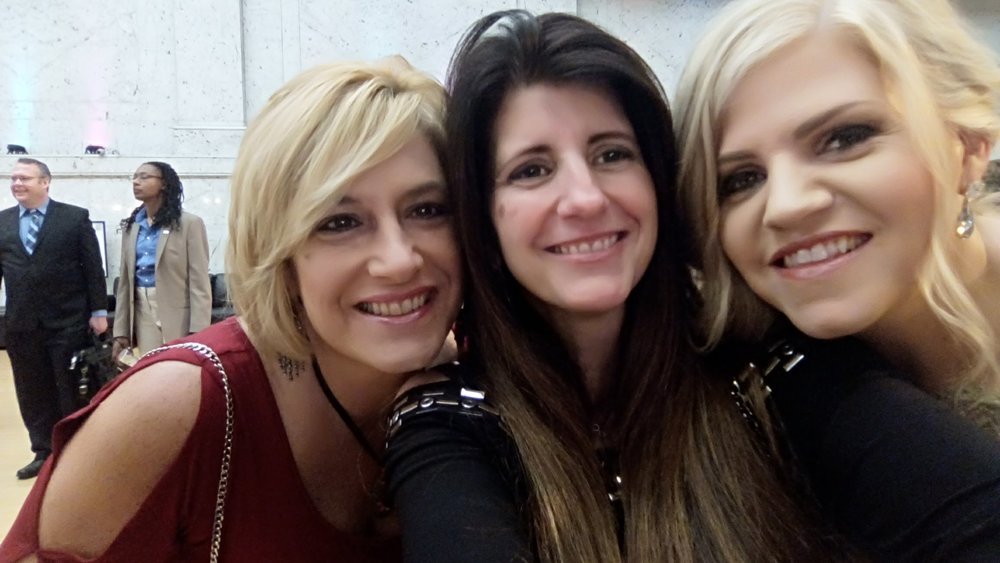 Nicki Kris, me and Jennifer Thomas