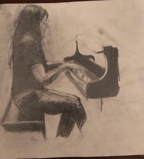 Artwork by Richard Gottlieb - Kori Rehearsing