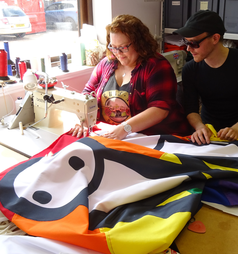 STIK banner being made by Flagmakers Ltd.