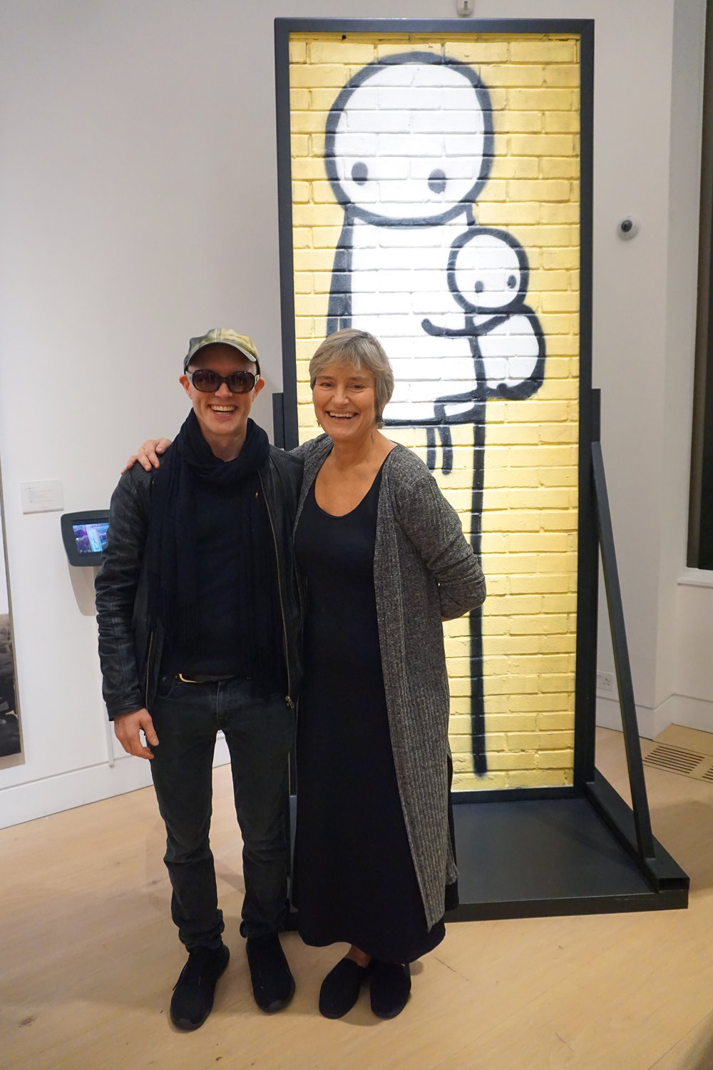 Stik and Rachel Pepper from ARTification at Phillips auction (photo LDNgraffiti).