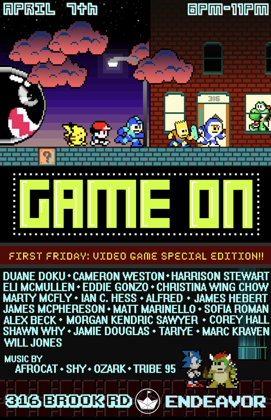 First Friday Event-Game On