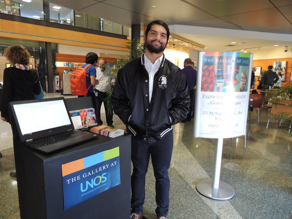 Our intern Karan helped serve refreshments and a healthy dose of smiles!