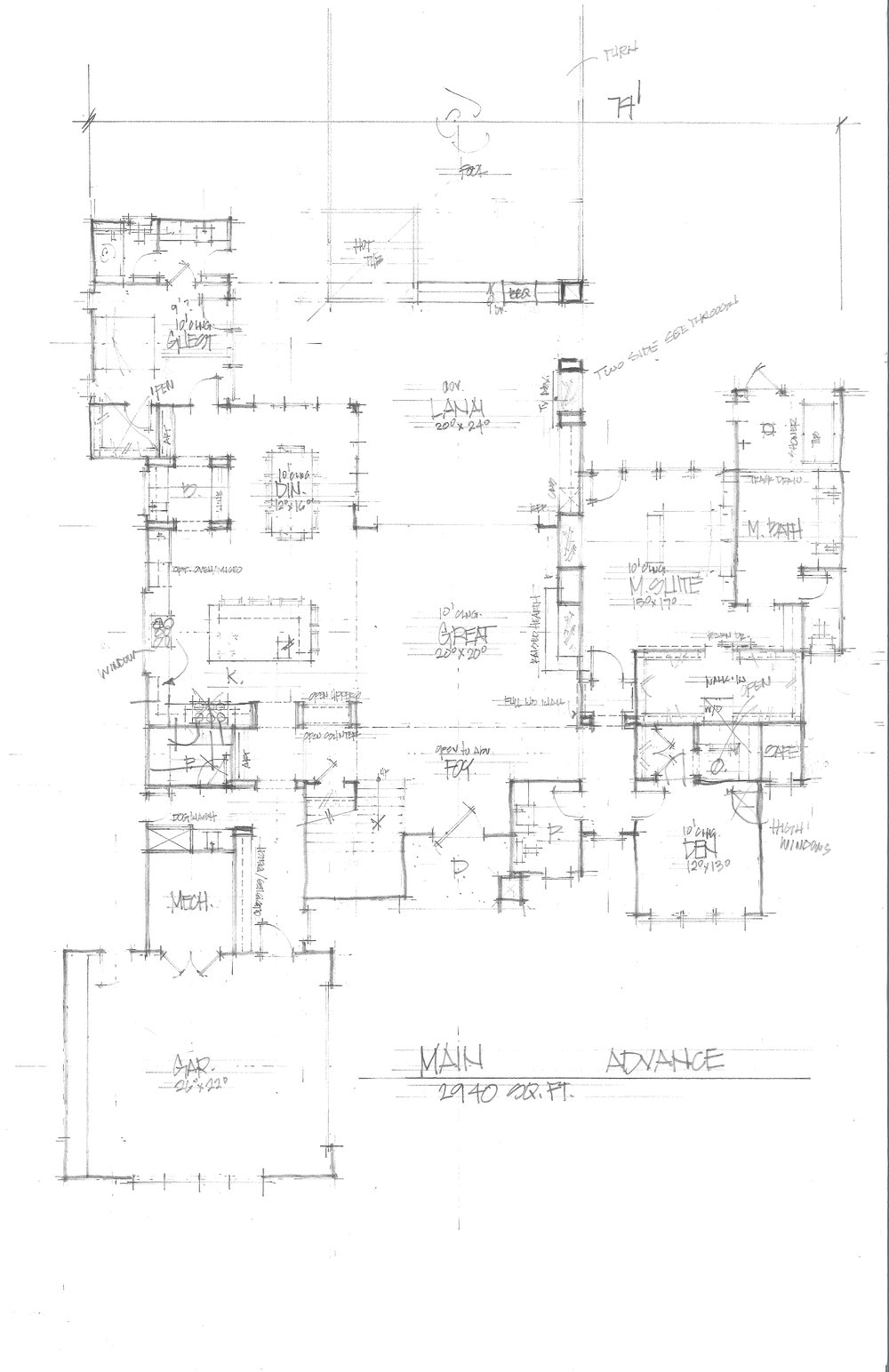 Main Floor Drawing