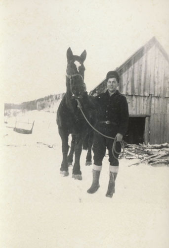 John Messier with Molly around 1950.