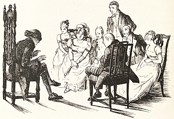 From the 1886 edition of Old Christmas From the Sketch Book of Washington Irving. Illustration by R. Caldecott.