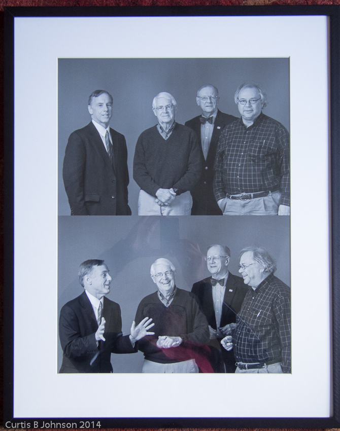 Howard Dean, former governor of VT, John Ewing, founder of Smarth growth Vermont, Michael Metcalf, former VT legislator, Paul Bruhn, director of the Preservation Trust of VT
