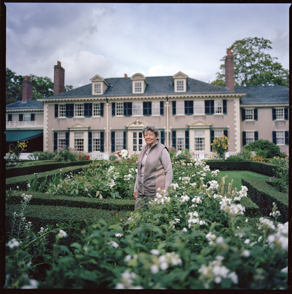 Jane Childs, at Hildene, the Lincoln Family Home, Manchester, Vermont.