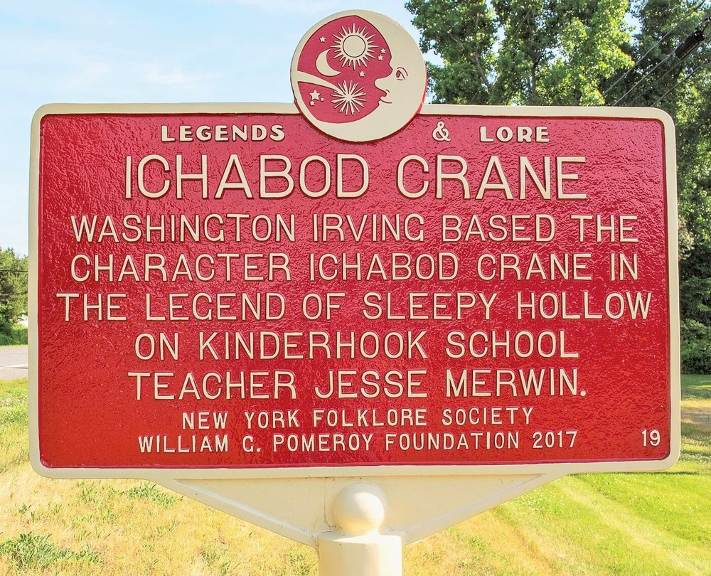 Legends & Lore marker example from New York state.