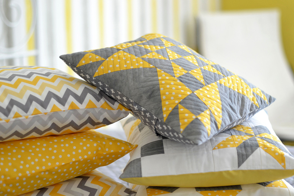 "Pillow Talk - If you want to brighten your living space with a splash of color, why not learn how to sew your own pillows? This is an ideal beginner's sewing project, because standard square pillows are so easy to make.  Join us for the ""Pillow Talk"" class and learn the basic skills while enjoying the new colors and patterns you can integrate into your home."
