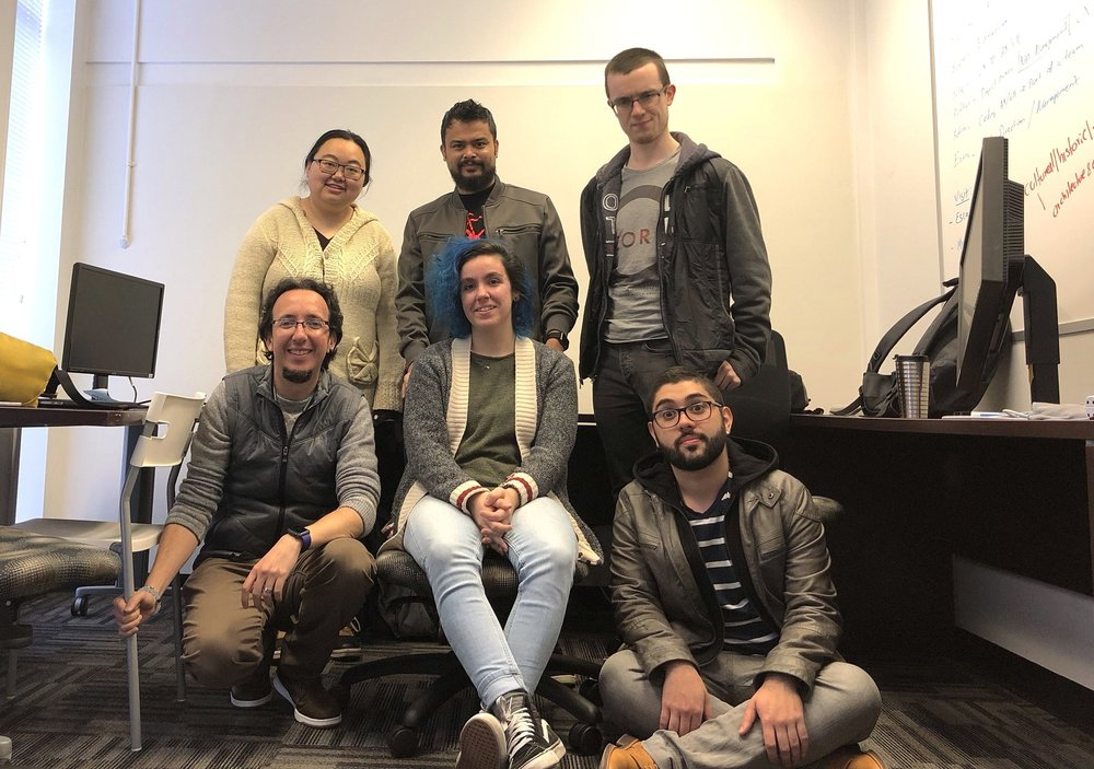 Team Y! - Robin, Pushkar, Seán, Ezra, Julie & Héctor
