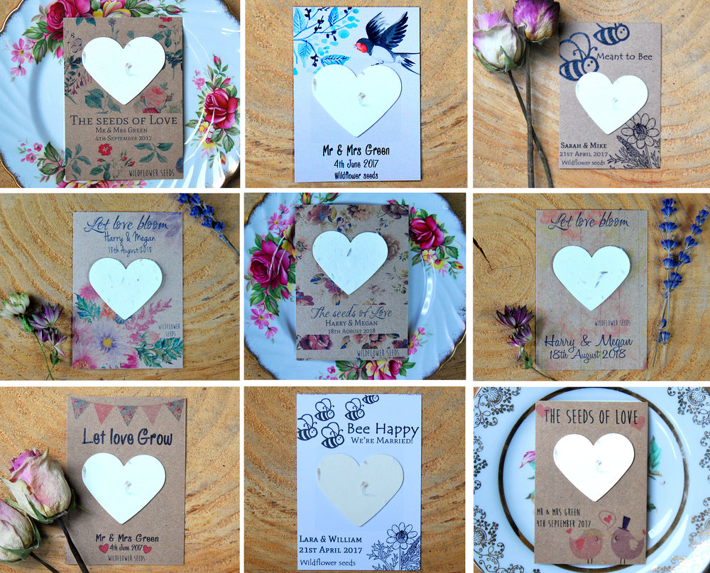 Wildflower seed paper favours