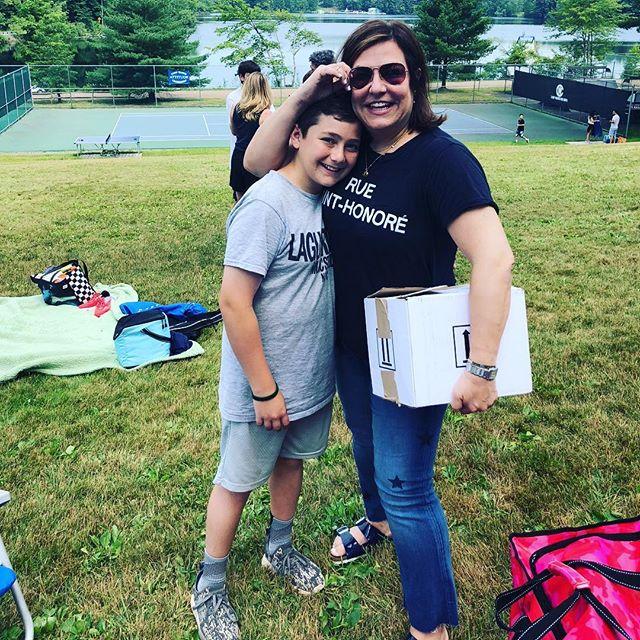 Oh Happy Day!! Camp visiting day with my baby T-$! #campwayne #skinnyboy #nojewishmomtocookforhim  #love #nickname #happyboy #happymom #sleepawaycamp #visitingday2018 #visitingday #tennis