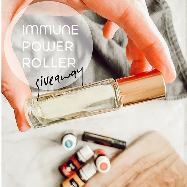 ✨GIVEAWAY✨ Hey lovelies! I just made a Immune Power Roller for my kids and want you to try it too! . To enter to win the free roller: 1️⃣ like this photo 2️⃣ tag a friend who wants to win a free roller too!🙌🏼 The more tags, more chances to win . That's it! . IMMUNE POWER ROLLER 5ml glass roller Thieves 5 drops Lemon 5 drops Frankincense 2 drops Lemongrass 2 drops Oregano 1 drop Fill the rest with carrier oil Roll on wrists, neck, spine, and bottoms of feet every day.