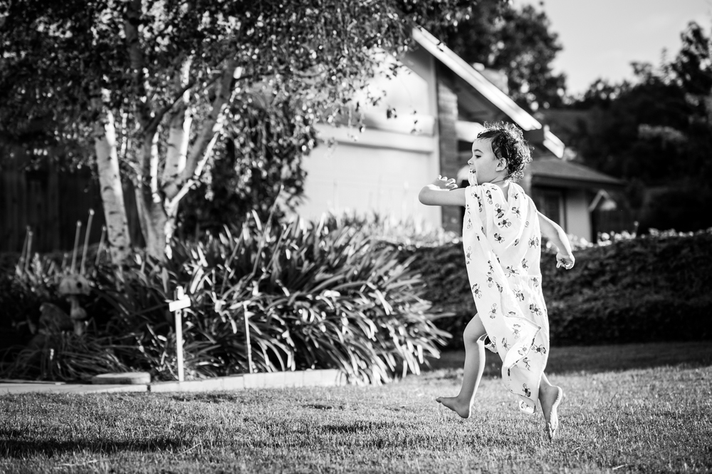 photo session at home superhero cape summertime play