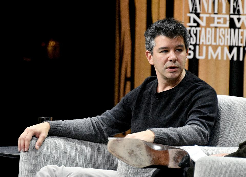Co-founder/CEO of Uber, Travis Kalanick, speaks onstage during 'The Übermensch' at the Vanity Fair New Establishment Summit at Yerba Buena Center for the Arts on Oct. 19, 2016 in San Francisco, California. (Photo by Mike Windle/Getty Images for Vanity Fair)